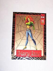 1994 MARVEL AMAZING SPIDER-MAN GOLD WEB INSERT #2 MARY JANE CARD JUMBO PACKS!