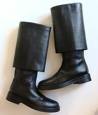 Ann Demeulemeester Fold Over Black Leather Boots Sold Out Excellent Condition! 8