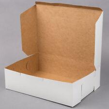 "100/CASE Bundle 14"" x 10"" x 4"" White Sheet Cake Cupcake Muffin Donut Bakery Box"