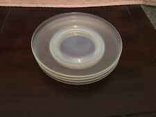 Fry Opalescent Foval Glass Set Of 4 Dessert Plates 7.5 inches