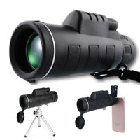40X60 Monocular Zoom Optical Lens Telescope + Tripod + Clip Set For Mobile Phone