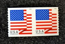 2018USA #5260 Forever U.S. Flag US - Coil Pair  Mint  (APU)