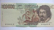 Caravaggio hundred thousand Lire 100.000 Centomila Lire banknote Italy Italia