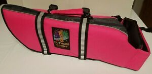 Outward Hound Pet Gear Medium Size Dog Life Jacket Pink & Black. Reflective Trim