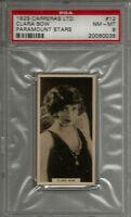 1929 Carreras Ltd. Paramount Stars PSA 7 & 8 NM-MT (6) Tobacco Card Lot Fay Wray