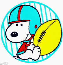 """6.5"""" BABY SNOOPY SPORTS FOOTBALL  CHARACTER  PREPASTED WALLPAPER BORDER CUT OUT"""