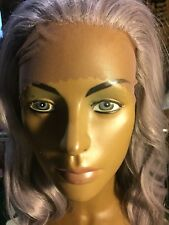 Gorgeous Silver Lace EarTo Ear, Front Silky Wavy Wig,Synthetic, 26inch. Fab