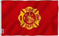 FIRE DEPARTMENT EMBROIDERED 3' X 5' FLAG Highest Quality  Firefighter Flag