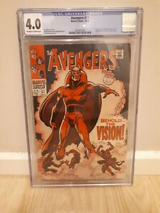 Avengers  #57 (1st Series 1st app Vision) CGC 4.0 - Off White to white Pages