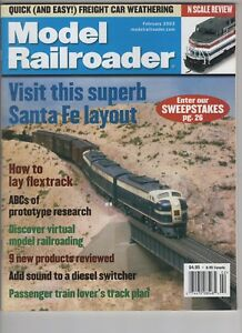Model Railroader Train February 2003 N scale Santa Fe Layout Flextrack