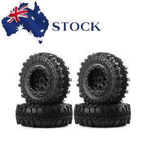 4PCS Tires & Wheels Rims Tire for 1/24 Axial SCX24 90081 RC Crawler Car