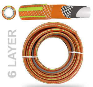 """10~50m__1/2"""" - 6 LAYER Drink Water Certification ORANGE Hose Pipe Camper STRONG"""
