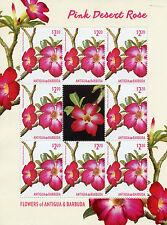 Antigua & Barbuda 2015 MNH Pink Desert Rose Flowers 8v M/S Flora