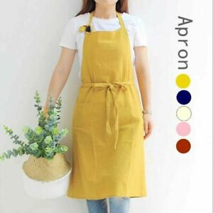 Cotton Apron Japanese Casual Craft Cooking Coffee House Shop Painters Workwear