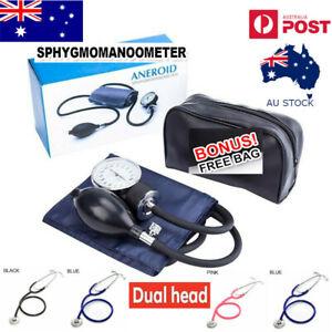 Aneroid Sphygmomanometer Arm Blood Pressure Monitor Cuff Dual head Stethoscope