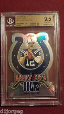 Andrew Luck 2012 Topps Finest Lucky Cuts Die-Cut Refractor RC BGS Gem Mt 9.5