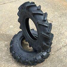 Two New 4.00-8 Deestone D402 Lug Heavy Duty Tiller Tires Garden Tractor Tires