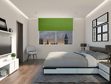 """Lime Green 150cm Thermal Blackout Roller Blinds 5ft - 60"""" - Only £38.99!"""