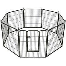 Welpenlaufstall Tierlaufstall Freigehege Welpenauslauf Hunde Laufstall 8 eckig