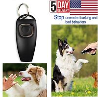 Dog and Puppy Training Clicker and Recall Whistle 2 in 1 Train Behavior Agility