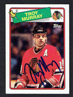 Troy Murray #106 signed autograph auto 1988-89 Topps Hockey Trading Card