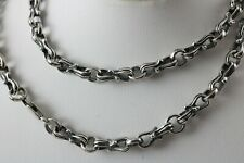 """925 Sterling Silver handmade Shackle link chain antique finish 17 3/4""""-20""""-24"""""""