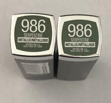 (2) Maybelline Colorsensational Metallic Lipstick, 986 Serpentine