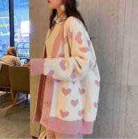 Women Fashion Cardigan Knitted Oversize Sweater Chunky Outwear Jacket Coat New