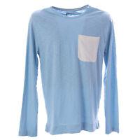 OLASUL Men's Blue Baha Long Sleeve T-Shirt $70 NEW