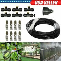 19.7FT Misting Cooling System Fan Cooler Patio Garden Water Mister Mist Nozzles