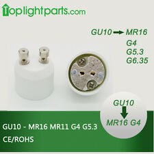 (10pcs) x GU10 to MR16 G4 Lampholder Socket Converter Transformer Light Adapter