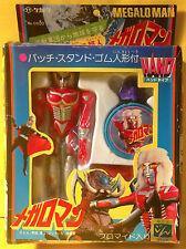 TAKATOKU MEGALOMAN (MICROMAN SIZED) PLASTIC FIGURE w/ KESHI KAIJU & TRADING CARD