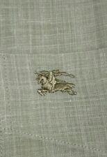 Camicia BURBERRY London - originale - botton down - lino - kaki / beige - S / 2