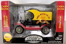 1912 FORD model T delivery SHELL - NEUF limited éd. GEARBOX 1:24 tirelire bank