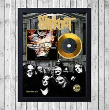 SLIPKNOT VOL. 3 SUBLIMINAL CUADRO CON GOLD O PLATINUM CD EDICION LIMITADA FRAMED