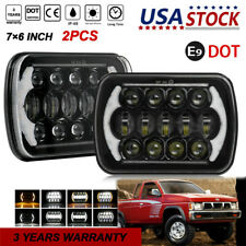 "7x6"" 5x7"" LED Headlights W/DRL Turn Signal Lamp For 87-97 Nissan Hardbody Pickup"