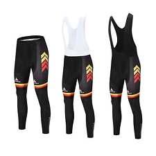 Germany Team Men's Long Cycling Pants 3D Gel Padded Bib Tights Compression