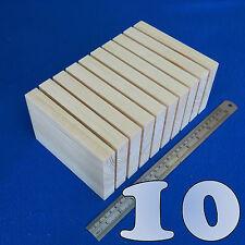 """LOT 10 x 4"""" x  6""""/100 x 150 mm WOODEN BLOCKS BUNDLE SET PINE WOOD NATURAL PLAQUE"""
