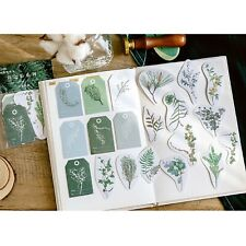 Botanical Sticker Pack,Foliage Stickers,Plant Stickers 40 pcs,Gift Tag Stickers