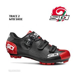 Sidi TRACE 2 Mountain Bike MTB Shoes : BLACK/RED - NEW in BOX!