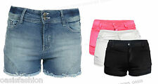 NEW WOMENS HOT PANTS OR DENIM SHORTS STRETCH FITTED 8 10 12 14