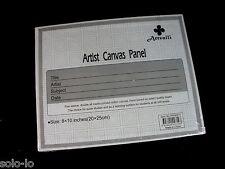 "20 Blank Panels 8""x 10"" Artist Canvas Panel Board Art Drawing Wholesale Arts"