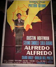 Manifesto ALFREDO ALFREDO '72 DUSTIN HOFFMAN  STEFANIA SANDRELII CARLA GRAVINA4F