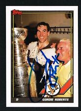 Gordie Roberts #494 signed autograph auto 1991-92 Topps Hockey Trading Card