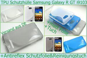 Samsung Galaxy R GT - I9103 Cover Bumper Schale Tasche Schutz hülle + Folie matt