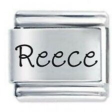 REECE Name - 9mm Daisy Charm by JSC Fits Classic Size Italian Charms Bracelet