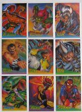 1995 Fleer ULTRA Spider-Man CLEARCHROME (Clear Chrome/Chromium) Full Set BV=$50