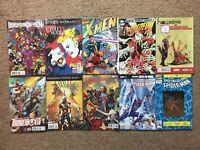 (Lot Of 10) Marvel Comics Spider-Man, Inhumans Vs X-Men, Daredevil, Web-Warriors