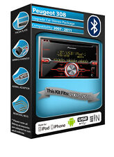 PEUGEOT 308 CD Player, Pioneer CAR stereo Aux in USB, KIT Bluetooth Vivavoce
