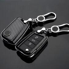 Carbon Fiber Black Key Cover case holder for Skoda Octavia combi A7